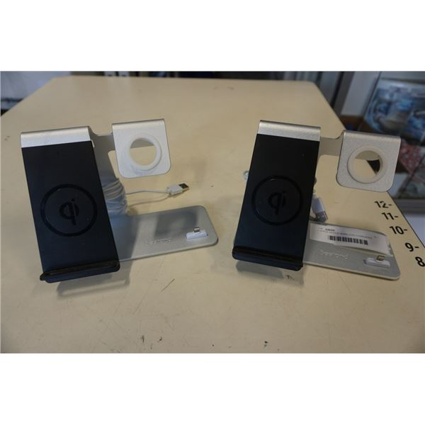 2 APPLE DEVICE WIRELESS CHARGERS