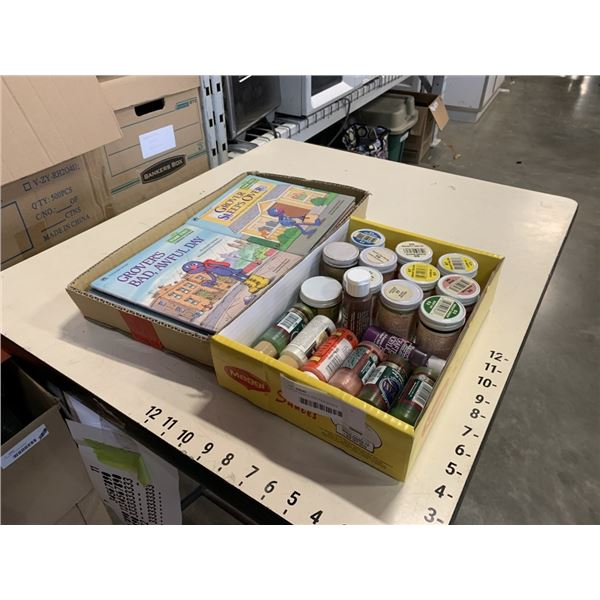 LOT OF PAINTS AND KIDS BOOKS