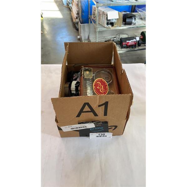 BOX AND CIGAR BOX OF WATCHES