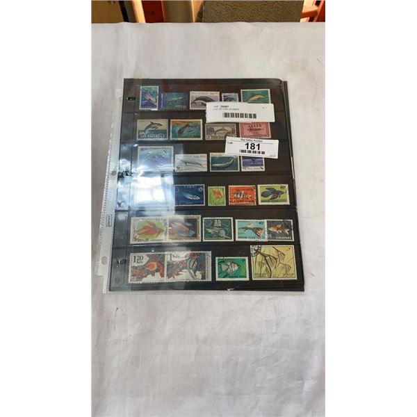 LOT OF FISH STAMPS