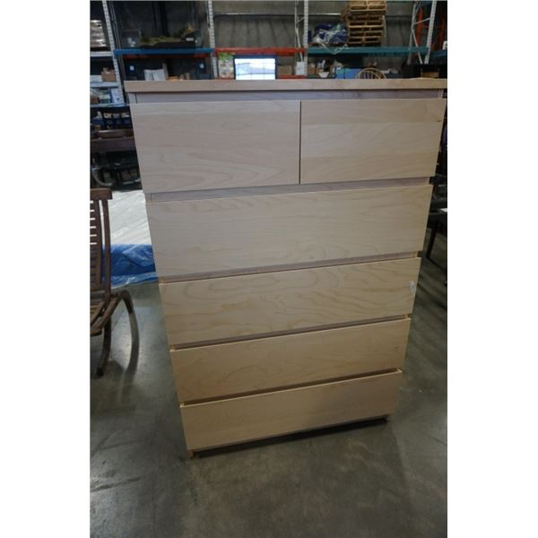 6 DRAWER MAPLE IKEA CHEST OF DRAWERS