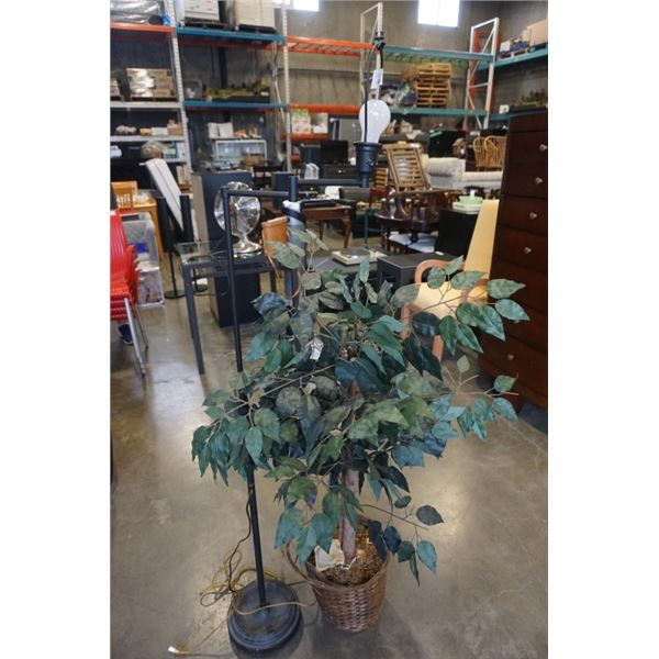 FLOOR LAMP AND ARTIFICIAL PLANT