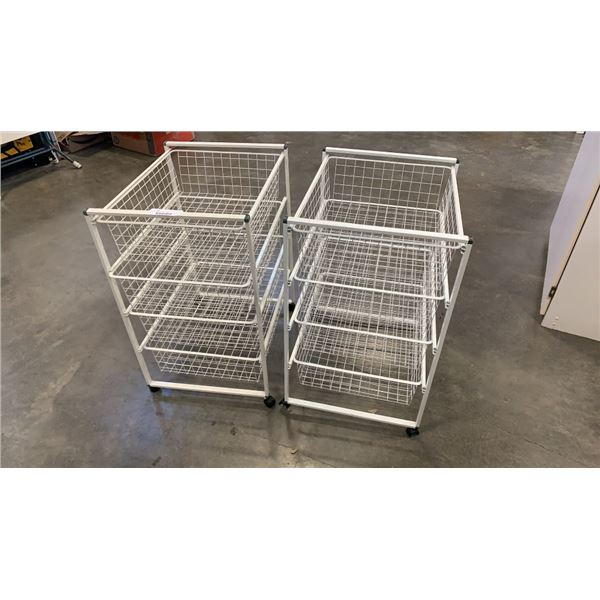 2 wire organizers 4 drawers each