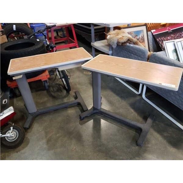 2 Adjustable bedside tables
