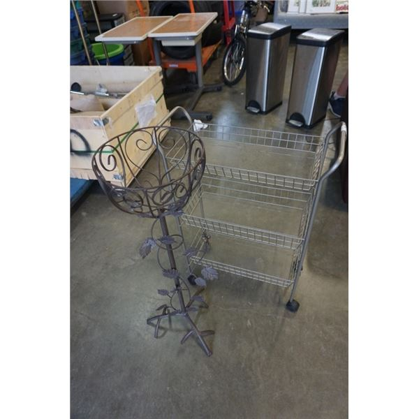METAL PLANTER STAND AND ROLLING BASKET STAND