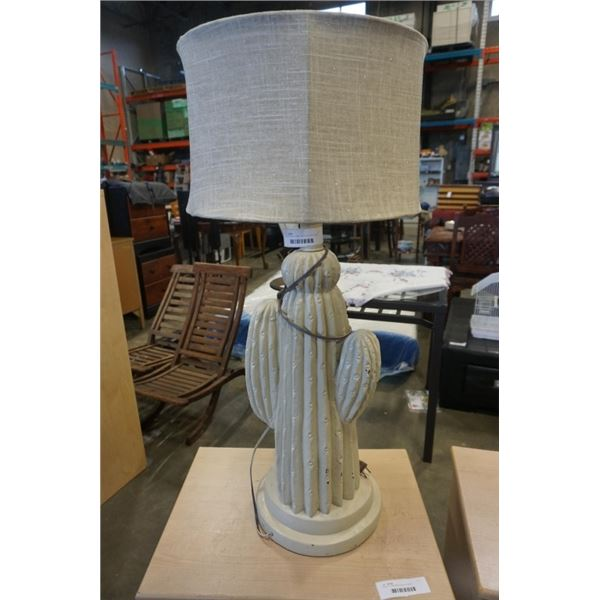 CACTUS TABLE LAMP - APPX 3 FOOT TALL