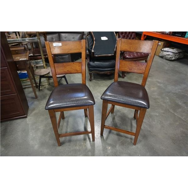 PAIR OF MODERN BAR STOOLS