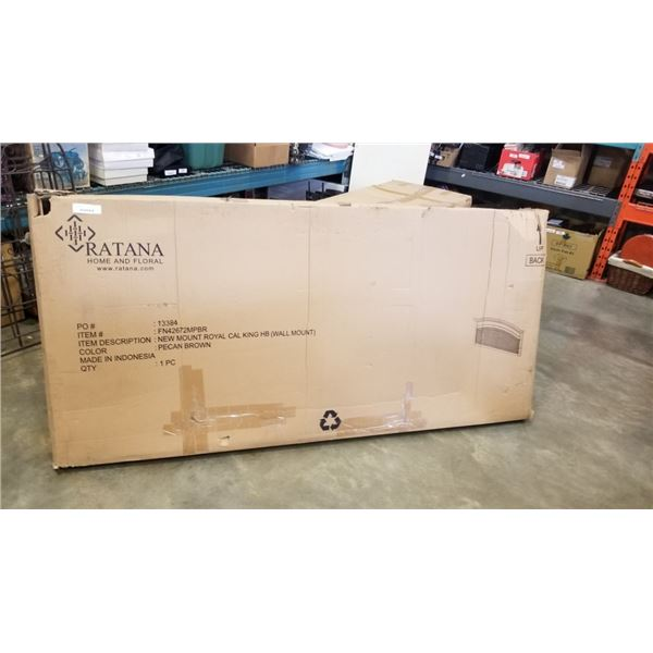 NEW RATANA CALIFORNIA KING HEADBOARD - WALL MOUNT