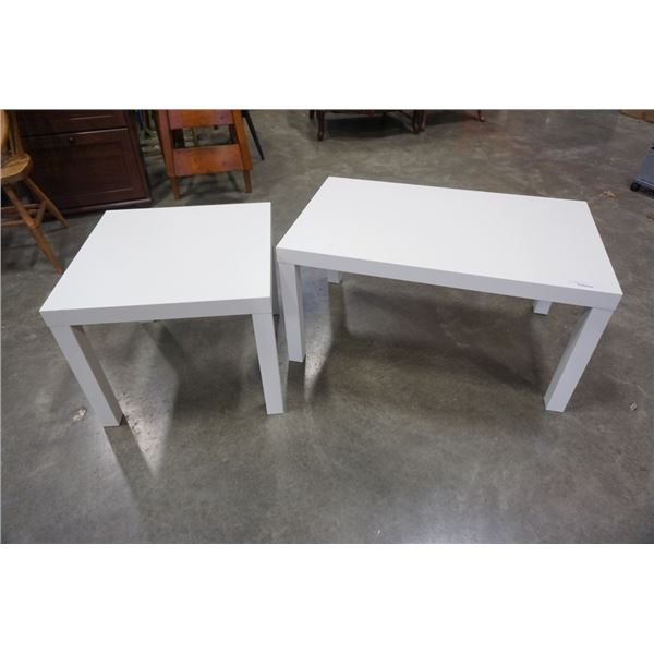 White coffee and end table set