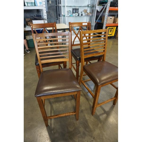4 COUNTER HEIGHT STOOLS