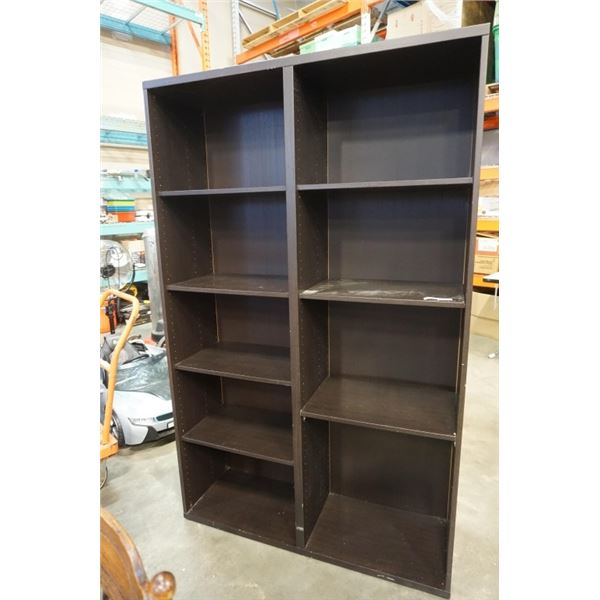 BLACK DOUBLE BOOKSHELF OVER 6 FOOT TALL