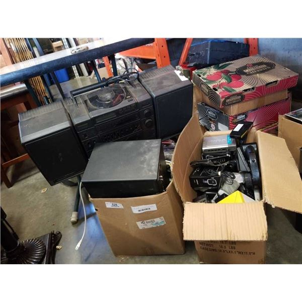 LOT OF ELECTRONICS, RADIO, SUB, CABLES