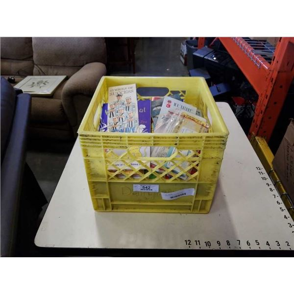 CRATE OF VINTAGE MAPS, ETC