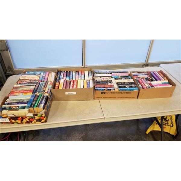 4 boxes of romance novels