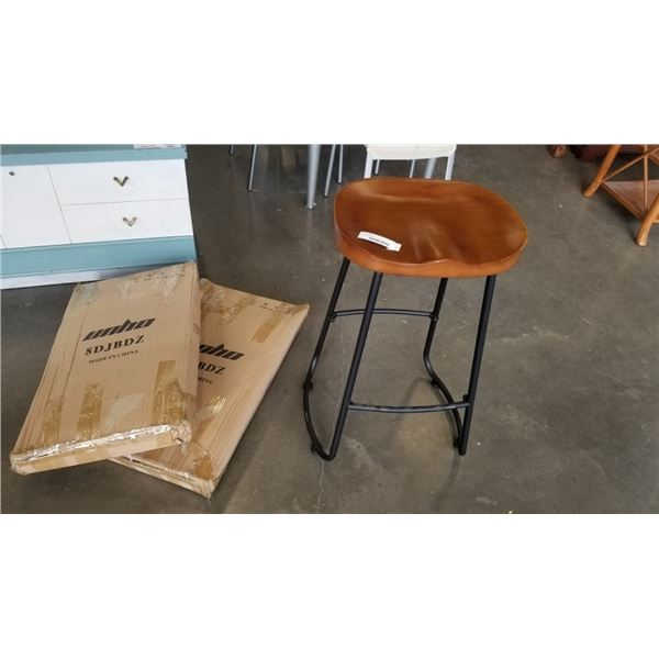 2 NEW SADDLE SEAT STOOLS IN BOX - RETAIL 149 EACH