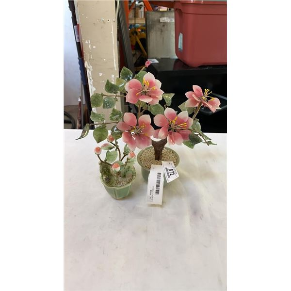 2 JADE FLOWERS