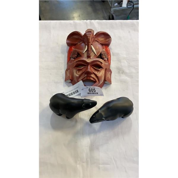 2 CAST BOMA BEAR FIGURES AND MASK