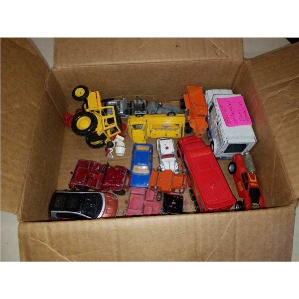 BOX OF VINTAGE CARS DINKY HOTWHEELS