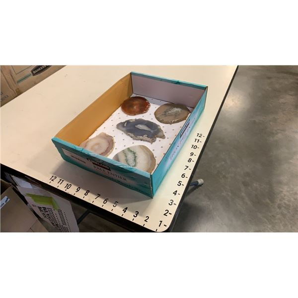 5 slabs of semi precious stones