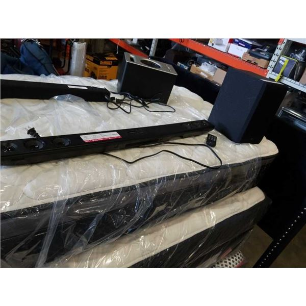 LG Bluetooth Sound Bar with Wireless Subwoofer and Remote tested and working