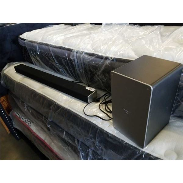 "VIZIO SB3651-E6 Bluetooth Soundbar Home Speaker 36"" and wireless sub MSRP $277 tested  and working"