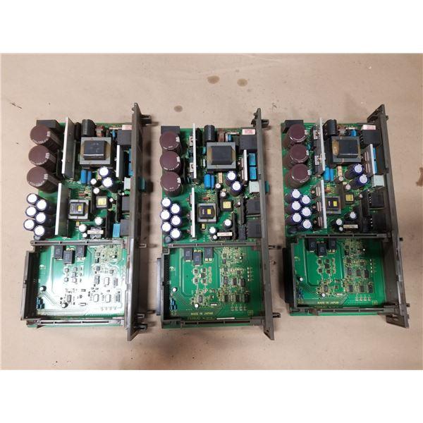 (3) FANUC A16B-2203-0370/13E POWER SUPPLY CIRCUIT BOARD