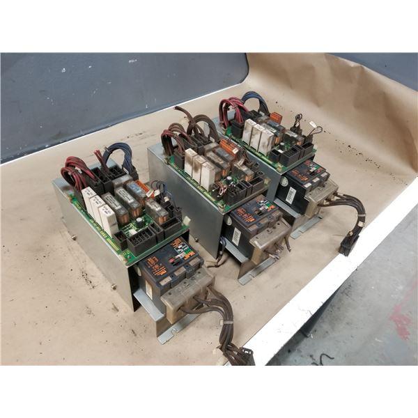 (3) FANUC A05B-2452-C474 DRIVE E-STOP UNIT W/ FUJI EA33QF2 CIRCUIT BREAKER