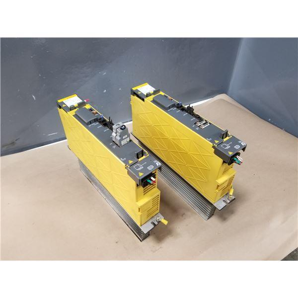 (2) FANUC A06B-6117-H105 SERVO AMPLIFIER