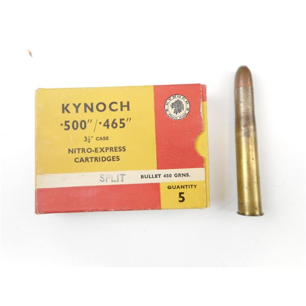 ".500"" KYNOCH COLLECTIBLE AMMO"