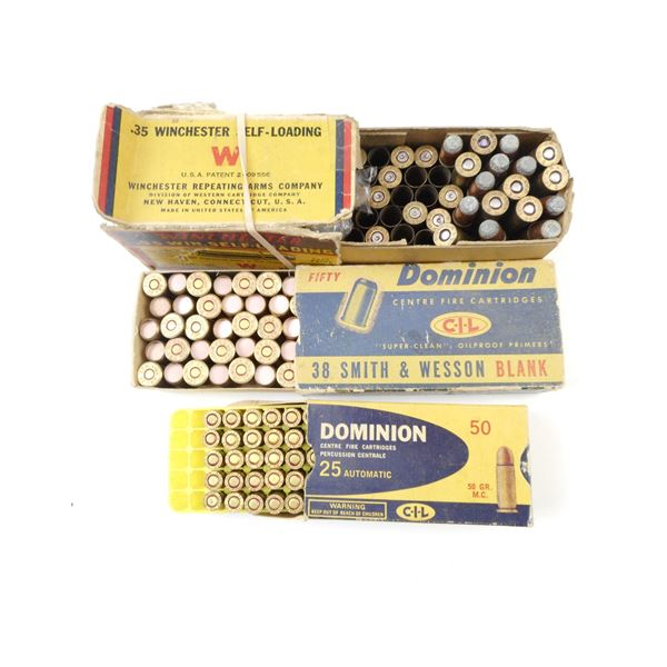 ASSORTED AMMO LOT, IN COLLECTIBLE AMMO BOXES, SOME IN DAMAGED CONDITION