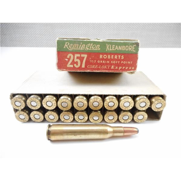 .257 ROBERTS REMINGTON COLLECTIBLE AMMO