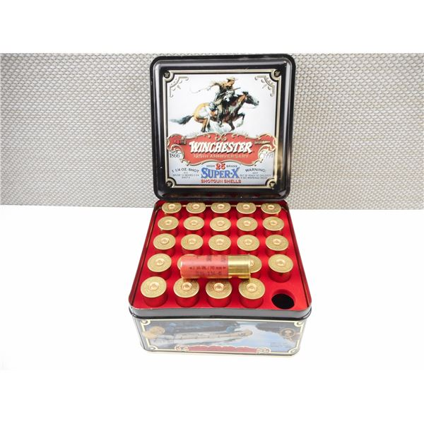 12 GA COLLECTIBLE WINCHESTER SHOT SHELLS, IN COLLECTIBLE AMMO TIN