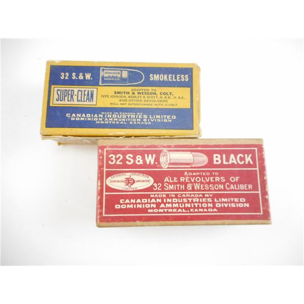 .32 SMITH & WESSON, DOMINION COLLECTIBLE AMMO AND BLANKS