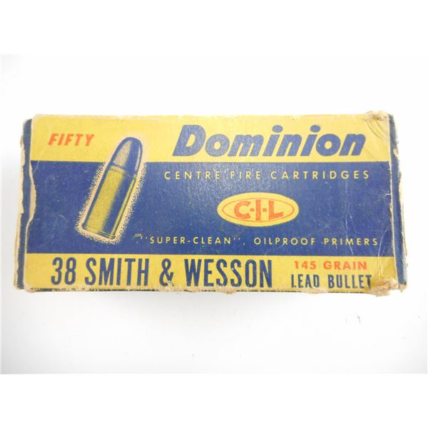 .38 SMITH & WESSON, DOMINION COLLECTIBLE AMMO