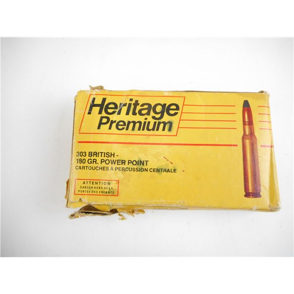 .303 BRITISH, WINCHESTER HARITAGE COLLECTIBLE AMMO