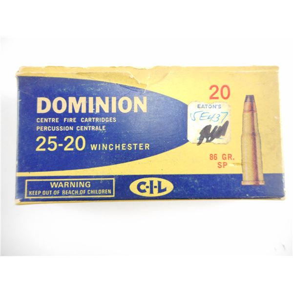 25-20 DOMINION COLLECTIBLE AMMO