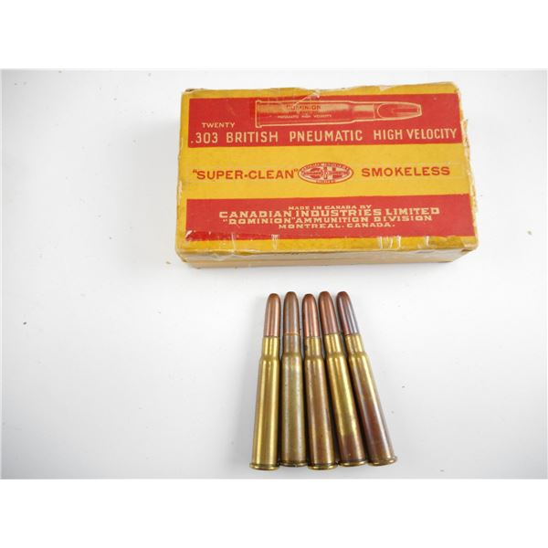.303 BRITISH PNEUMATIC, DOMINION COLLECTIBLE AMMO