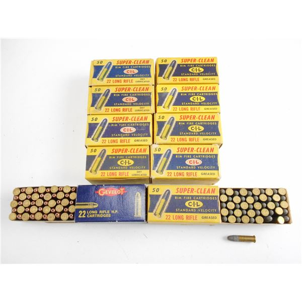ASSORTED LOT OF .22 LR, COLLECTIBLE AMMO