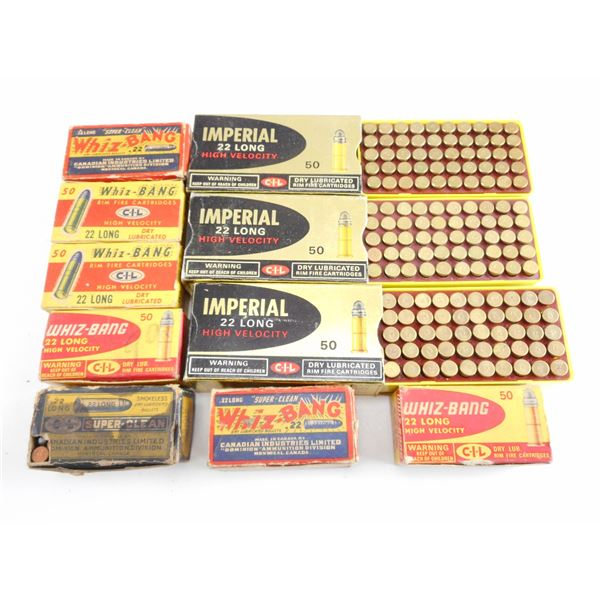 ASSORTED .22 LONG, COLLECTIBLE AMMO