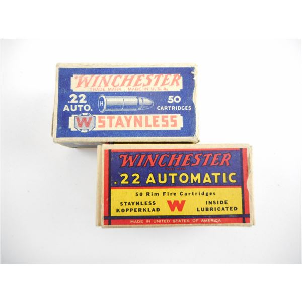 ASSORTED .22 AUTO, COLLECTIBLE AMMO LOT