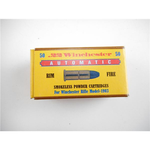 .22 AUTO, WINCHESTER COLLECTIBLE AMMO