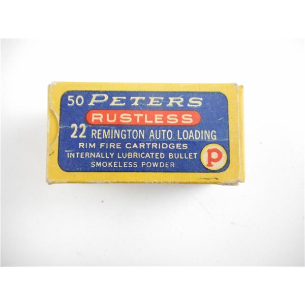 .22 AUTO, PETERS COLLECTIBLE AMMO