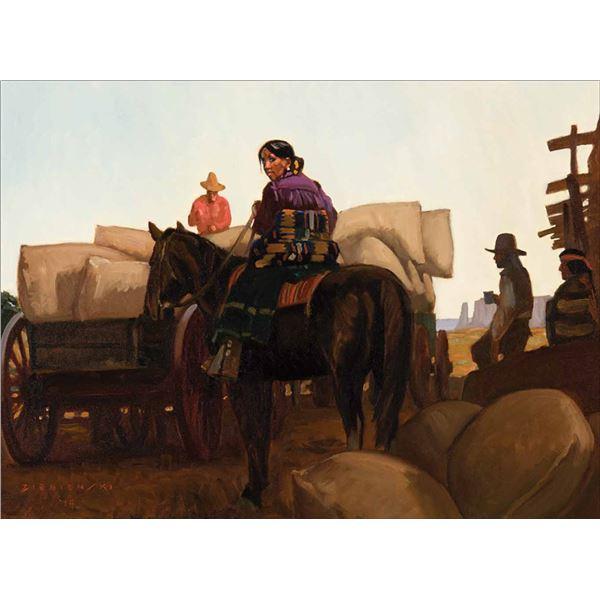 Dennis Ziemienski -Dawn at the Trading Post