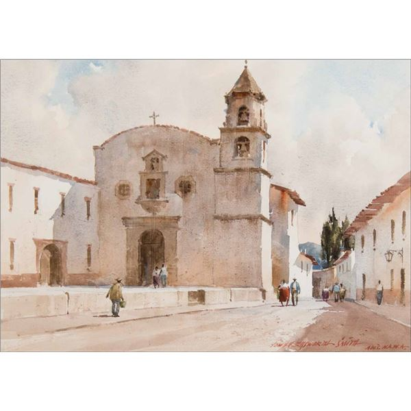 Lowell Ellsworth Smith -Church at Patzcurazo