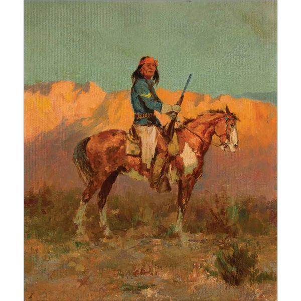 Olaf Wieghorst -Apache Scout