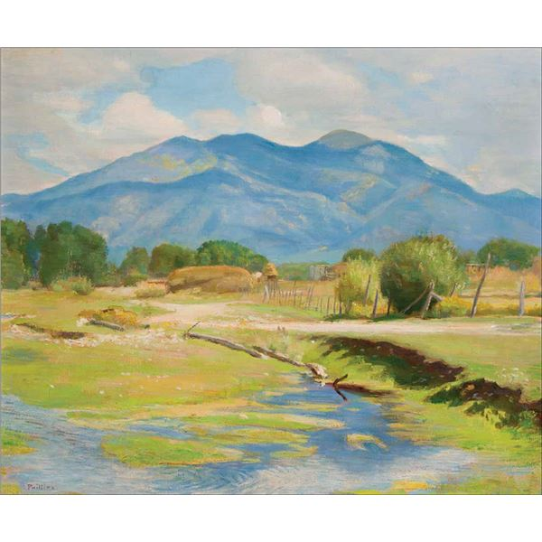 Bert G. Phillips -Taos Mountain: September Landscape 1942