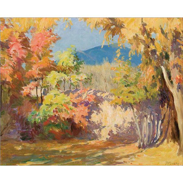 Joseph H. Sharp -An Old Garden in Taos