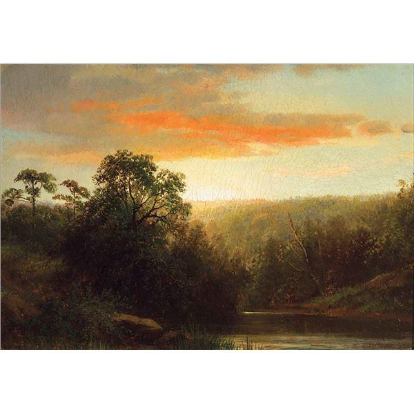 Albert Bierstadt -Sunset - Demarest NJ