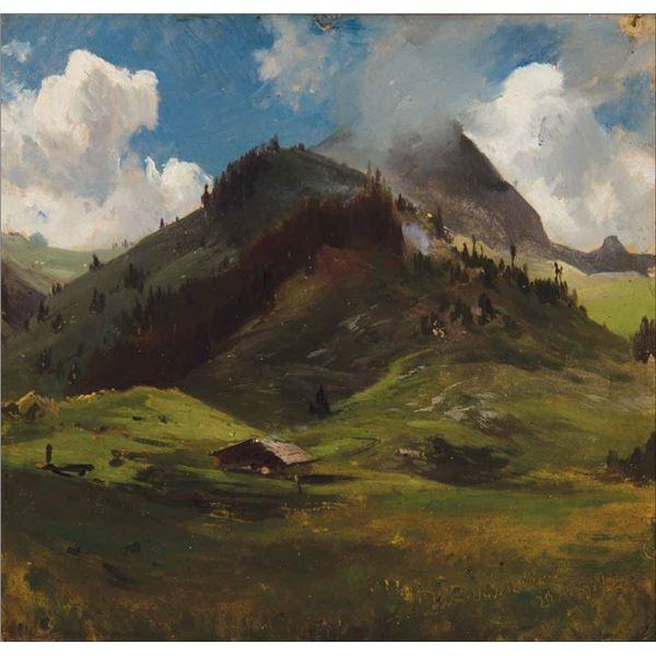 Albert Bierstadt -Cabin in South Sierra California