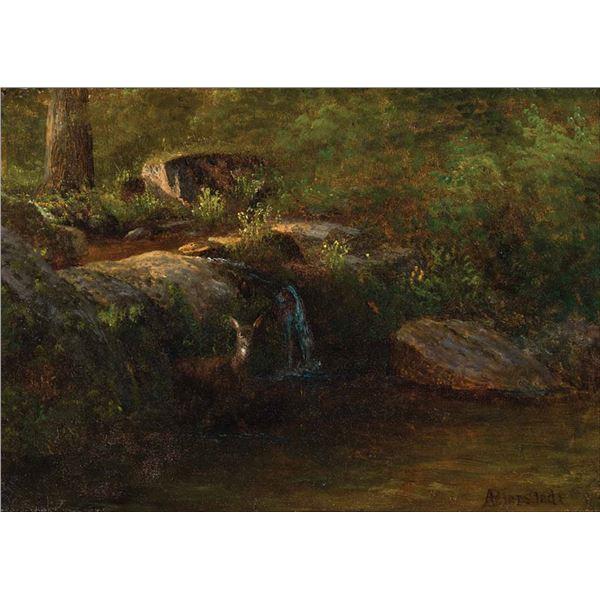 Albert Bierstadt -Deer in the White Mountains